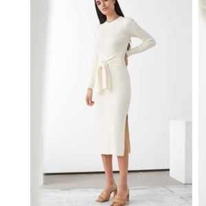& OTHER STORIES Belted Rib Midi Dress